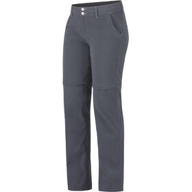 Marmot Kodachrome Pantalones convertibles Mujer, dark steel